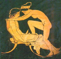 Lovers on a Greek bowl