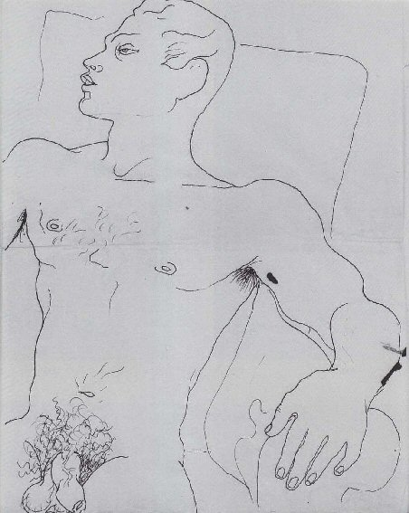 drawing by Jean Cocteau