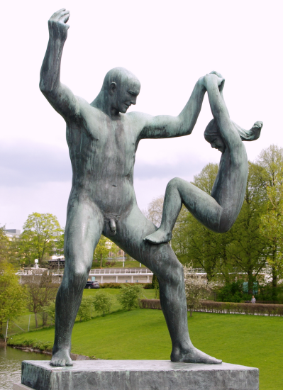 Father & daughter by Gustav Vigeland