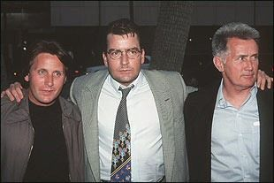 Charlie Sheen, Emilio Estevez and Martin Sheen