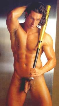 Man with baseball bat