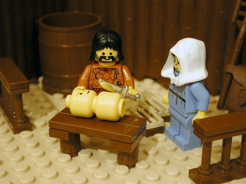 Circumcision of Jesus in Lego