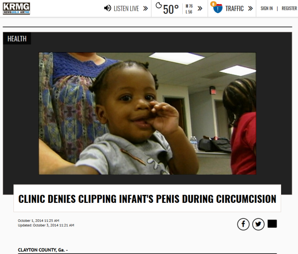 absurd - ''Clinic Denies Clipping ... During Circumcision''