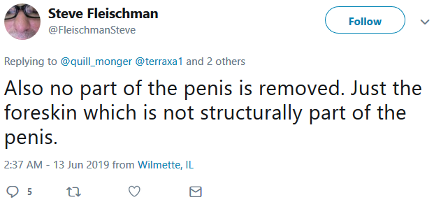 absurd ''no part of the penis...not structurally part''