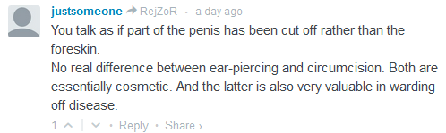 ''... part of the penis rather than the foreskin...''