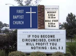 Church sign: