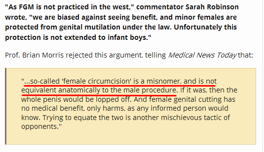 Morrs: so-called 'female circumcision' is a misnomer