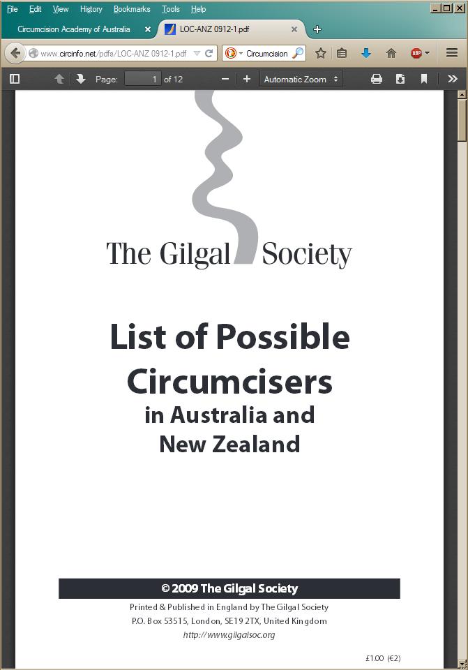 Gilgal's list of circumcisers on Morris's site