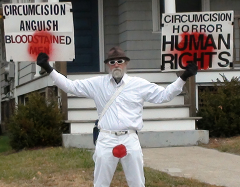 Brother K protesting circumcision in Providence RI