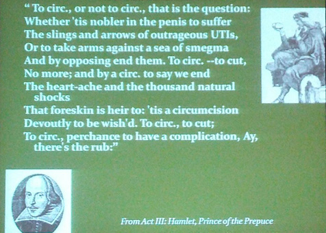 Shakespeare quotation in Homsy presentation at AAP