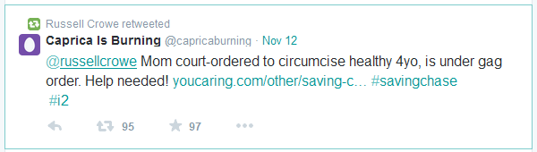 Mom court-ordered to circumcise 4yo is under gag-order. Help needed!