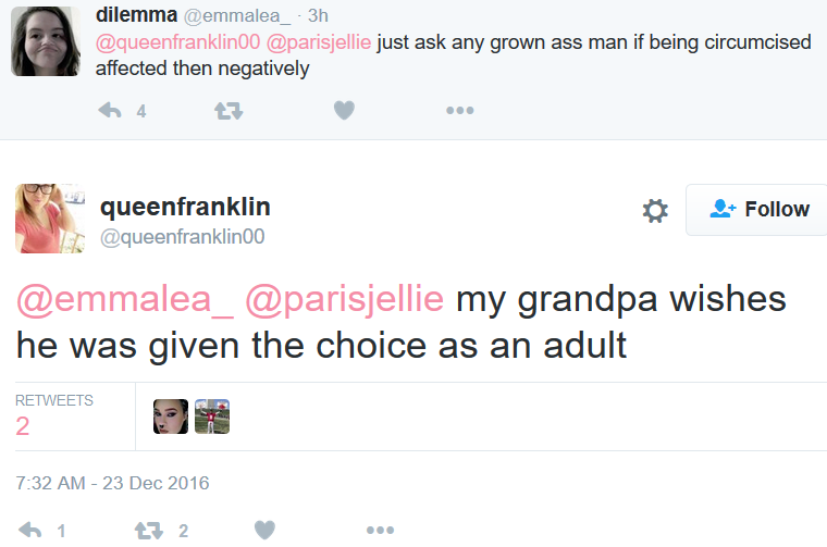 resent-''My granpa wishes he'd been given the choice''
